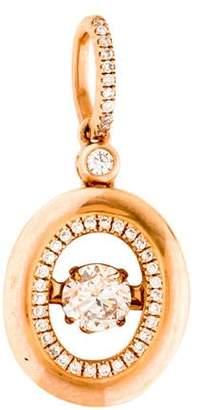 14K Diamond Spinning Pendant