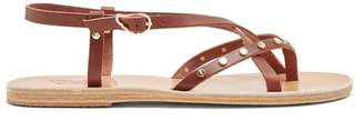Ancient Greek Sandals Semele Embellished Slingback Leather Sandals - Womens - Dark Brown