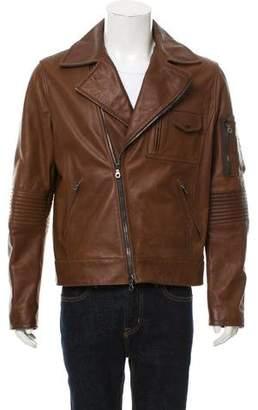 Michael Bastian Leather Biker Jacket