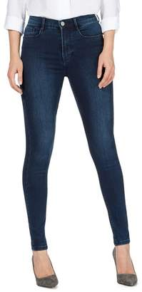 J by Jasper Conran Blue 'Sculpt And Lift' High-Waisted Skinny Jeans