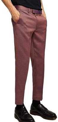 Topman Skinny Fit Jacquard Trousers