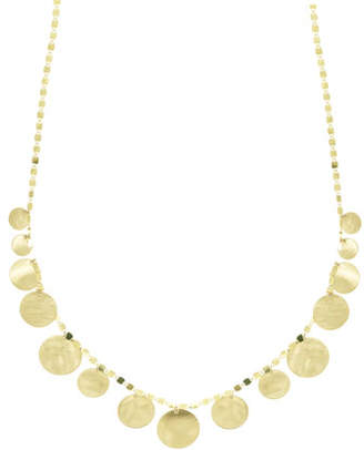 Lana Small Disc Fringe Necklace