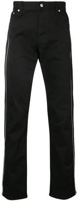 Alexander McQueen side stripe embroidered trousers