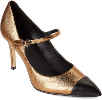 Marc Fisher Bronze Deepti Mary Jane Metallic Pumps