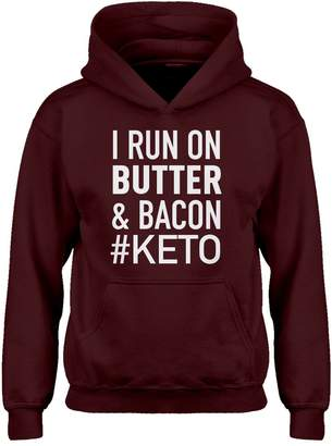 Butter Shoes Indica Plateau Kids Hoodie I Run on and Bacon Youth-Size Hoodie