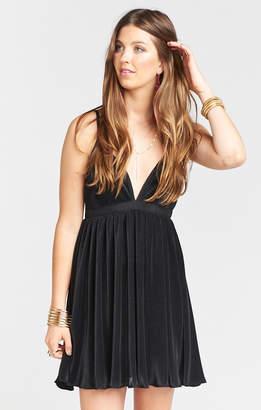 Show Me Your Mumu Eva Dress ~ Black Pleat