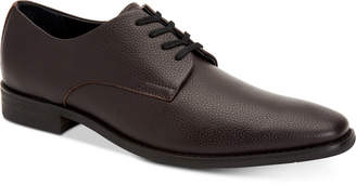 Calvin Klein Men's Ramses Tumbled Leather Oxfords Men's Shoes