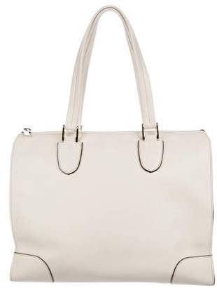 Valextra Babila Leather Tote