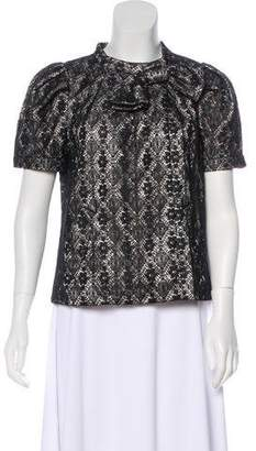 Marc by Marc Jacobs Metallic Lace Jacket