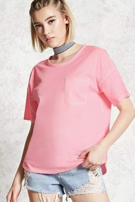 Forever 21 Contemporary Cutout Pocket Tee