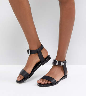 Asos DESIGN FAZ Leather Western Sandals