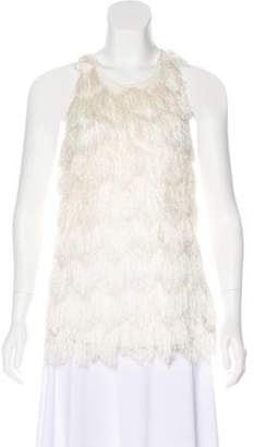 By Malene Birger Fringe-Accented Sleeveless Top