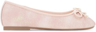 La Redoute Collections Pink Sparkly Ballet Pumps