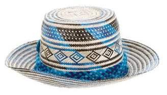 Yosuzi Pom-Pom Straw Hat