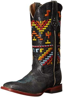 Ferrini Women's Ladies Aztec Cowgirl Square Toe Western Boot