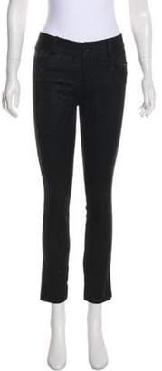 Alice + Olivia Printed Skinny Pants Black Printed Skinny Pants