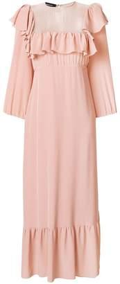 Rochas ruffle embellished maxi dress