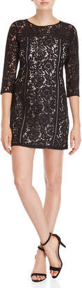 BB Dakota Black Shelby Lace Sheath Dress