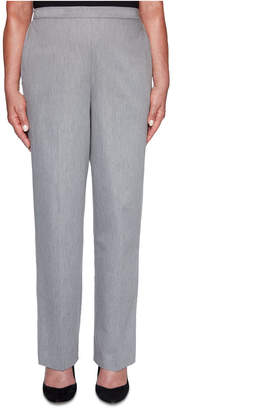 Alfred Dunner Well Red Proportioned Sateen Pants