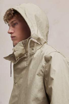 French Connection Bonded Cotton Hooded Rain Mac