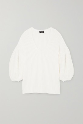 Mother of Pearl Abela Ribbed Organic Cotton And Wool-blend Sweater