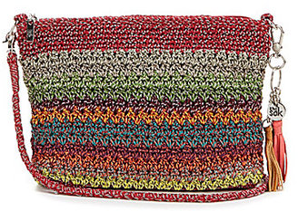 The Sak Shasta Tasseled Striped Crochet Convertible Demi Cross-Body Bag $39 thestylecure.com