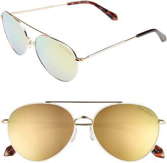 Lilly Pulitzer R) Isabelle 56mm Polarized Metal Aviator Sunglasses