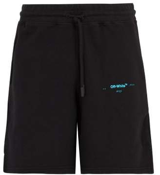 Off-white - Gradient Cotton Jersey Shorts - Mens - Black