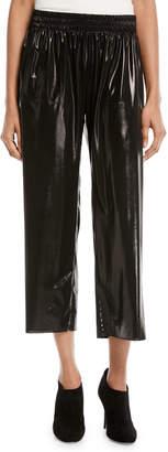 Cropped Boyfriend Metallic Sweatpants