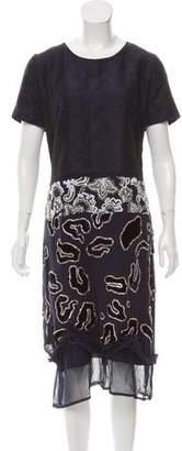 Michael Van Der Ham Silk Midi Dress