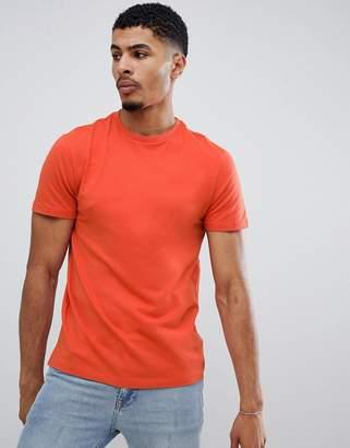 New Look t-shirt with crew neck in orange