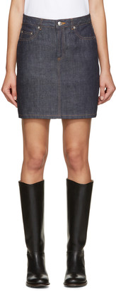 A.P.C. Indigo Standard Denim Skirt $120 thestylecure.com