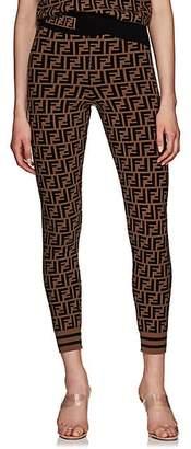 Fendi Women's Logo Knit Leggings - Brown
