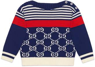 Gucci Baby GG and stripes knit sweater