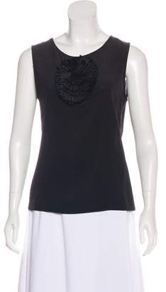 Fendi Sleeveless Floral-Accented Top