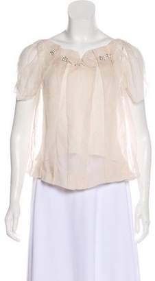 Chloé Silk Embellished Top