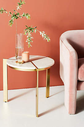 Anthropologie Sectored Marble Side Table