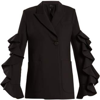 Gold Band double-breasted ruffle-trimmed jacket
