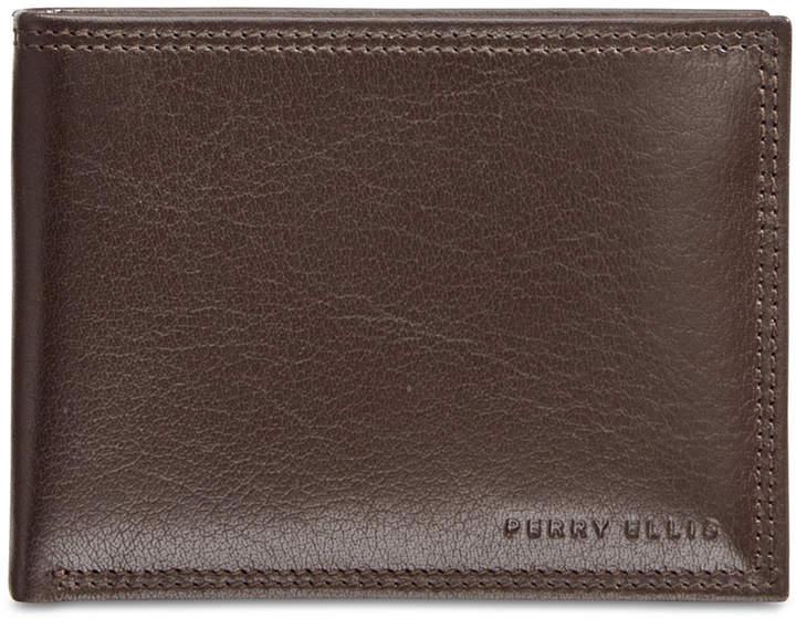 Perry Ellis Portfolio Men's Leather RFID Wallet