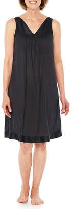 Asstd National Brand Lissome Lounge Tricot Short Sleeve V Neck Nightgown