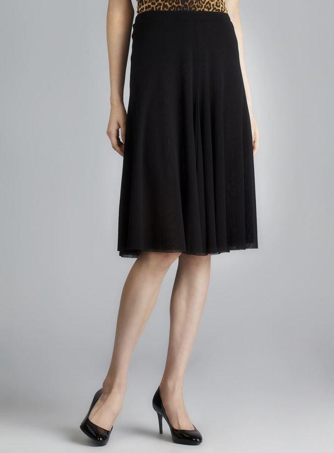 Jean Paul Gaultier Soleil Black Mesh Skirt