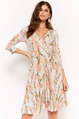 Forever 21 Cherry Blossom Surplice Dress