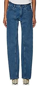 Y/Project Women's Leg Panel Straight Jeans - Blue
