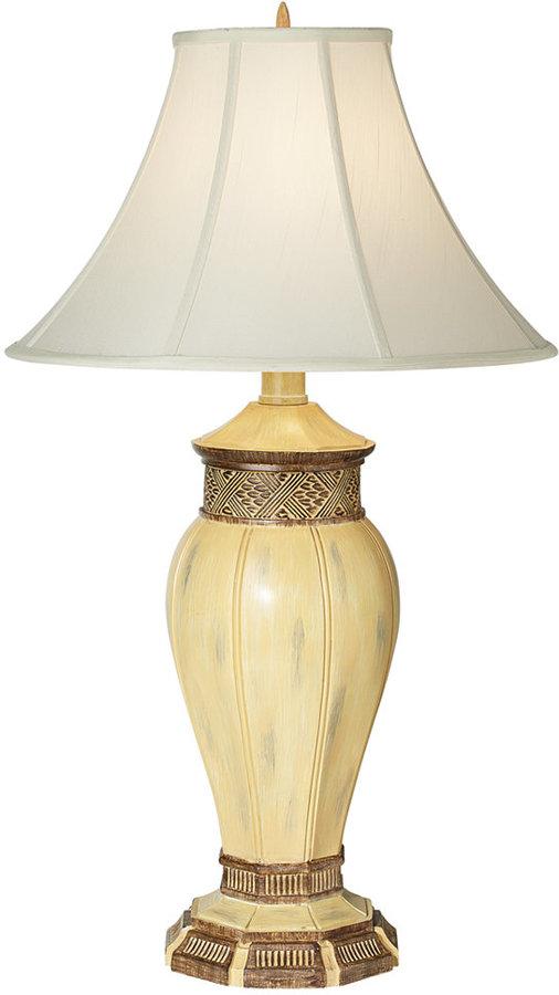 Pacific Coast Bronze Travertine Jar Table Lamp