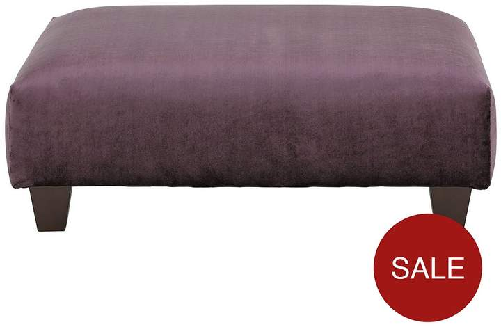 Luxe Collection Glamour Fabric Banquette Footstool