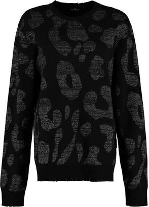 Marcelo Burlon County of Milan Long-sleeved Crew-neck Sweater
