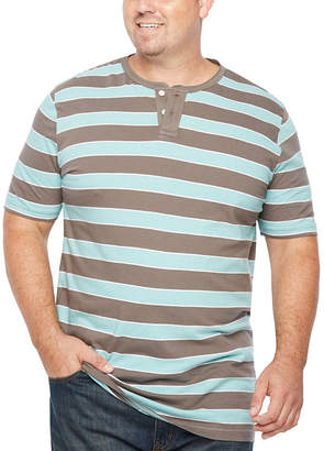 Co THE FOUNDRY SUPPLY The Foundry Big & Tall Supply Foundry Short Sleeve Henley Shirt-Big and Tall