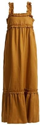 Lee Mathews - Peyten Linen Long Dress - Womens - Gold