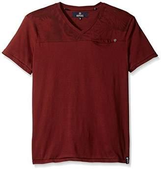 Buffalo David Bitton Men's Kisad Short Sleeve Vneck Fashion Knit Shirt