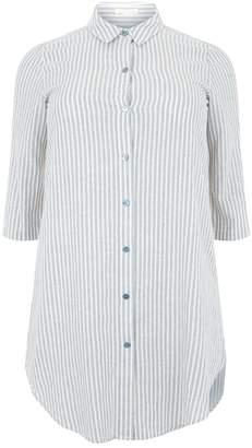 Eileen Fisher Striped Shirt Dress